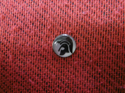 Trojan Head Black and Silver Background Hankie Pin 10mm